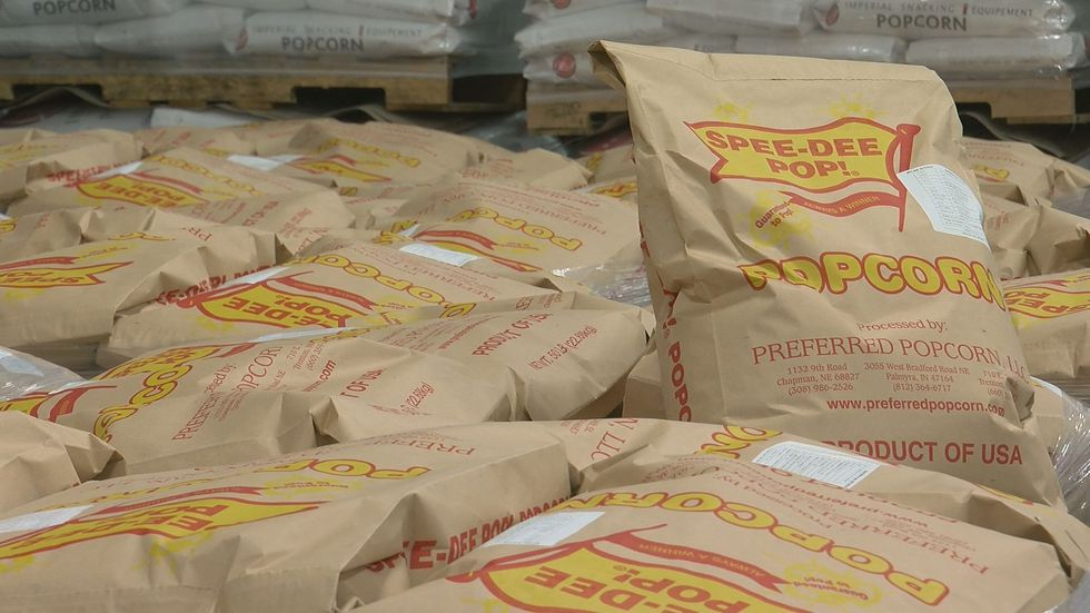 Much of the popcorn produced in Harrison County, Indiana will be sent to 70 countries all...