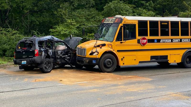 One student was treated after an August 19, 2021 accident between a JCPS school bus and a SUV.