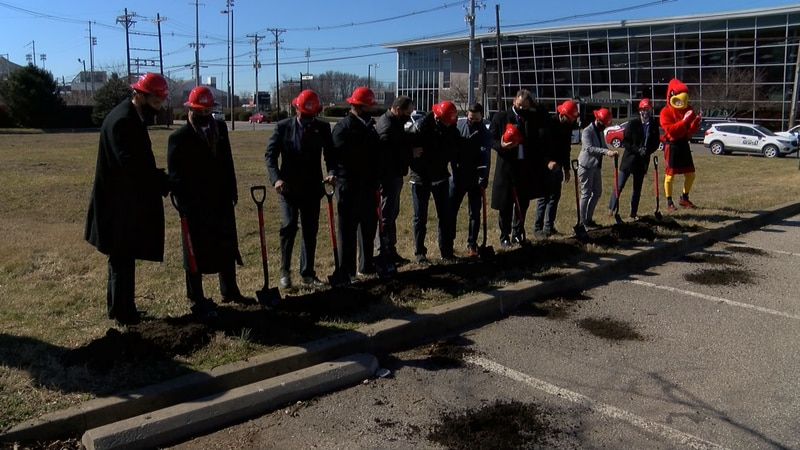 The University of Louisville broke ground Tuesday on a new residence hall named after two-time...