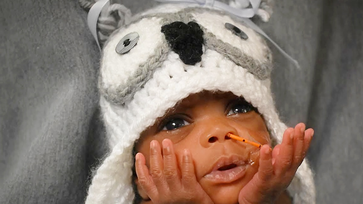 NICU baby at UofL Hospital in Louisville dressed in a Halloween costume