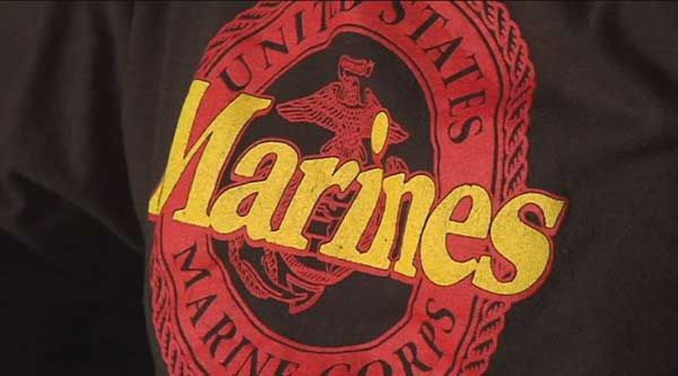 The USMC T-shirt Zack Mitchell wore to school on College T-Shirt Day.