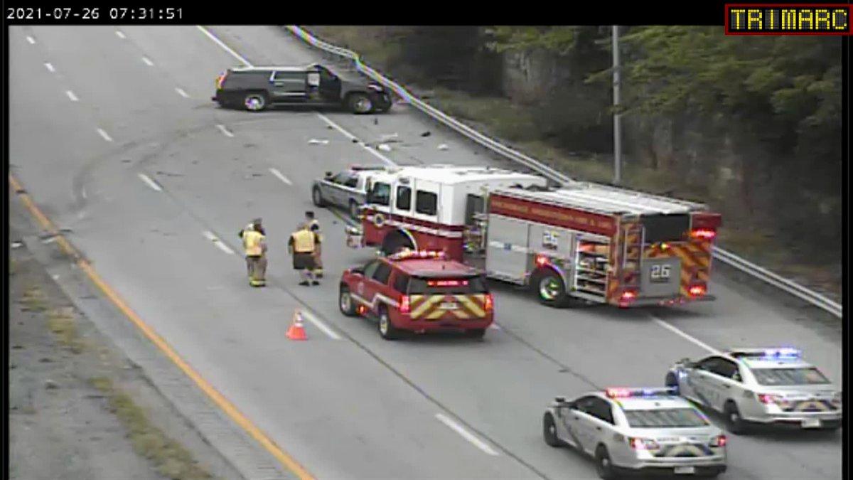 TRIMARC said the multi-vehicle crash happened just before 7 a.m. on I-71 North near I-264.