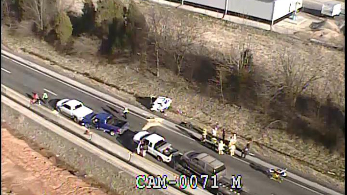Traffic is at a standstill as crews are working a multi-vehicle collision on Interstate 71 near...